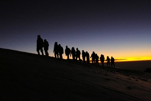 Summiting Mt. Kilimanjaro with my dad this spring.  Incredible.