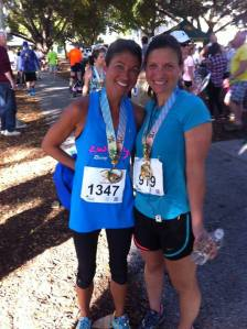 This was taken Sunday after I ran my fastest half marathon to date..I felt great after!